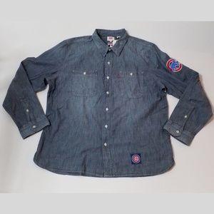 Levis Chicago Cubs Denim Button Up Shirt